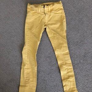 Girls J Brand mustard yellow jeans